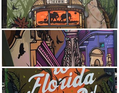 FLORIDA RD KIOSK GRAFFITI MURAL