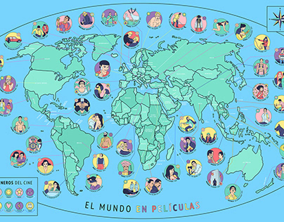 Mapa El Mundo en Películas 🎬✨