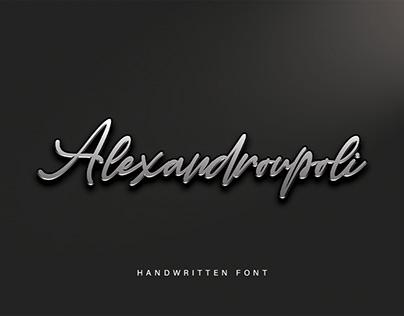 Alexandroupoli || Handwritten Font