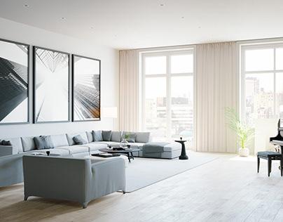 Living Room in Corona 4D