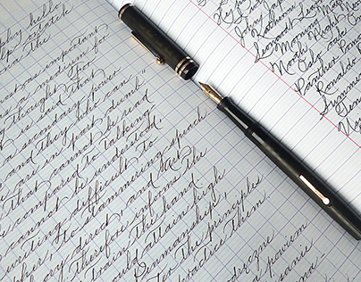 Handwriting with the fountain pen - Palmer script