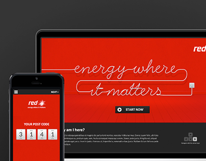 RED ENERGY - Concept Campaign Website & App