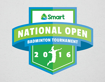 Smart National Open Badminton Tournament Logo