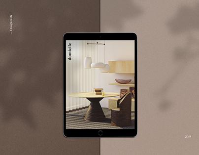 Domicile | Web design