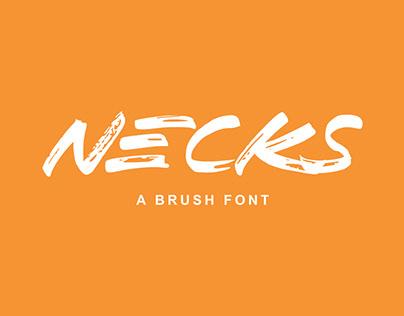 NECKS - FREE FONT