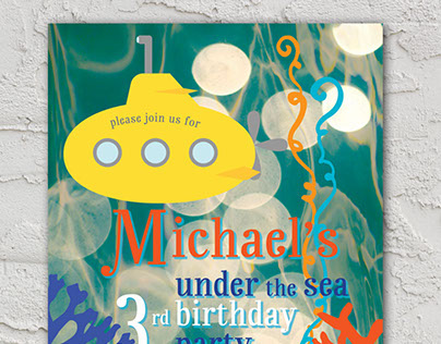 Under the Sea Birthday Party Invite & Thank You