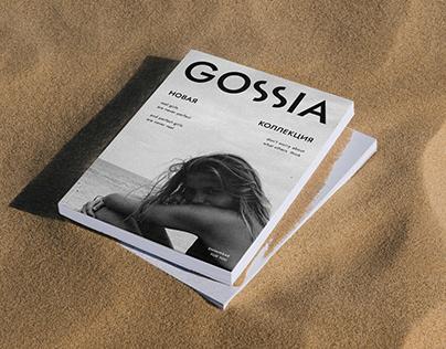 GOSSIA   LOGO and visual concept for swimwear brand