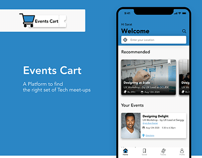 iOS App for Events & Tech Meetups Booking/Registration