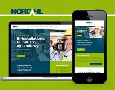 Nordahl - webdesign, logo and visual identity.