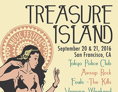 Music Festival Poster Design : Treasure Island