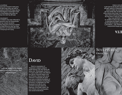 Greek themed brochure