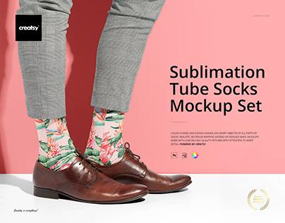 Sublimation Tube Socks Mockup Set