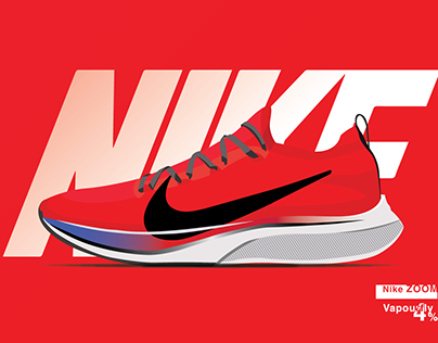 NIKE ZOOM Vapourfly 4% (Vector art )