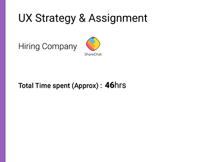 Share Chat UX Assignment