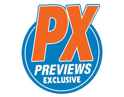 "PREVIEWS EXCLUSIVE ""PX"" LOGO REDESIGN"