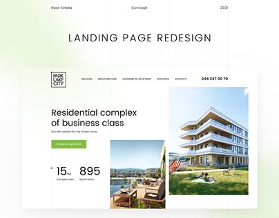 Park Lake City Landing page Redesign