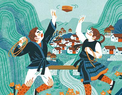 《少年陀螺王》封面插图 cover illustration