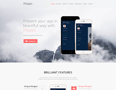 RX Apps - App Landing Page