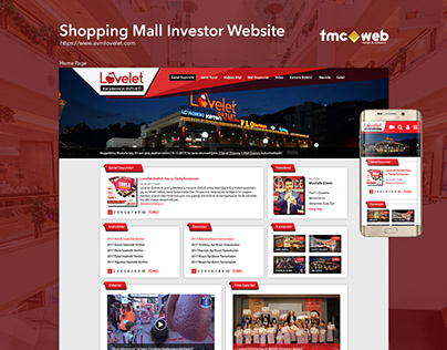 Shopping Mall Investor Website