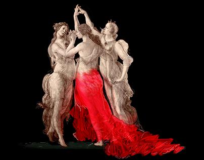 Avariation on Botticelli's Primavera
