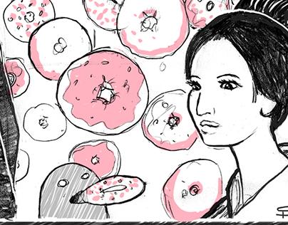 Doughnut Swarm in the Washitsu