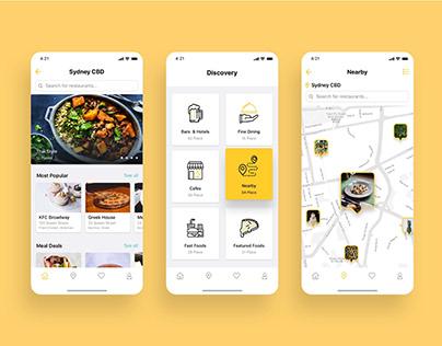 food restaurant mobile ap ui desgin