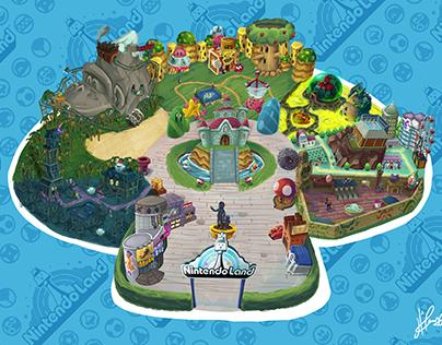Nintendo Land - Magazine Illustration