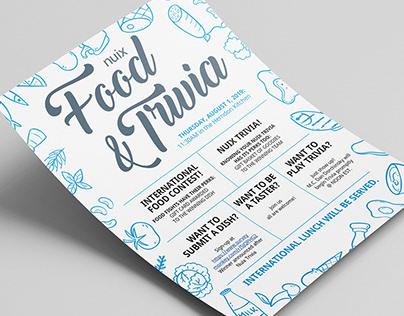Food & Trivia Poster