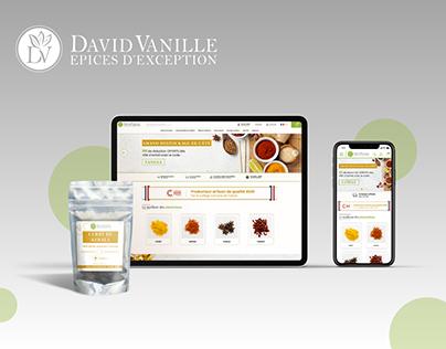 Redesign site David Vanille