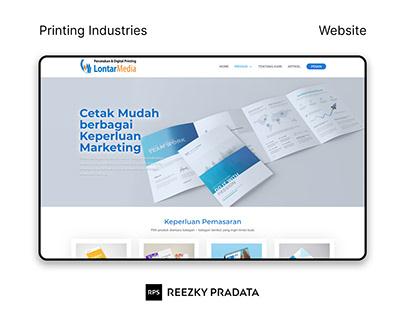 Lontar Media Printing Web Design