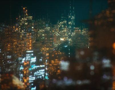'' Futuristic Sci-fi City CG ''