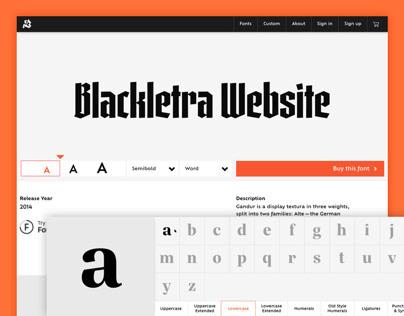 Blackletra Foundry Website