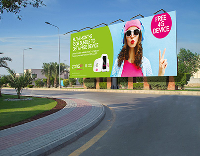 Banner Design | Free 4G Device | Zong 4G A New Dream