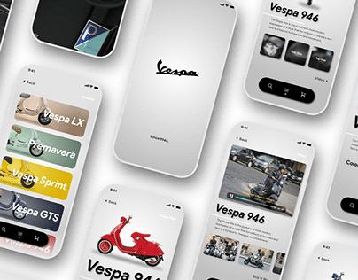 【UI/ Mobile】Vespa Store