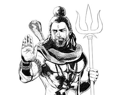 Shiva - Digital Illustration