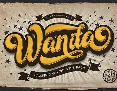 Wanita handmade calligraphy style font free download