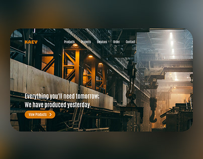 KAEY Steel Factory landing page concept