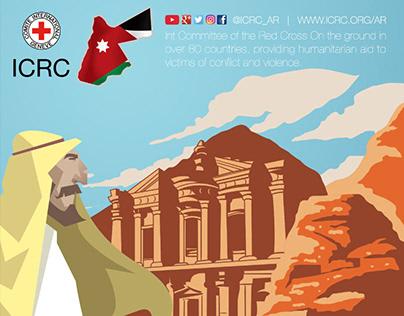 Red Cross Jordan infographic poster in 2016