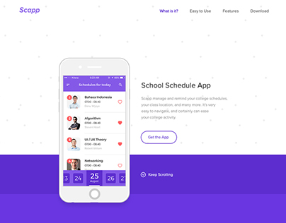 Scapp Landing Page