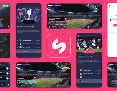 UI/UX - Sports Stream & Quiz app