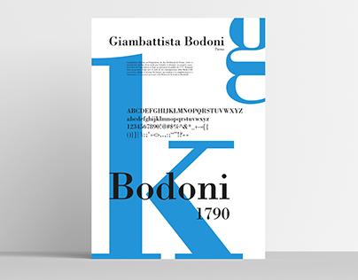 Typographie - Hommage à Giambattista Bodoni