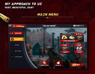 Shooting Game UI part 2 Design-gui/ui/ue/ux/icon logo