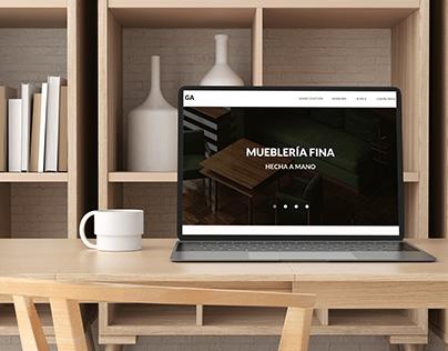 Furnishings/ Mueblería - Web design UI concept