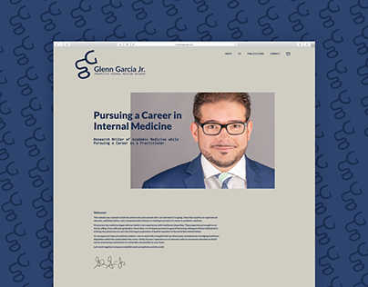 Glenn Garcia Jr. – MD To Be: Brand Identity & Website