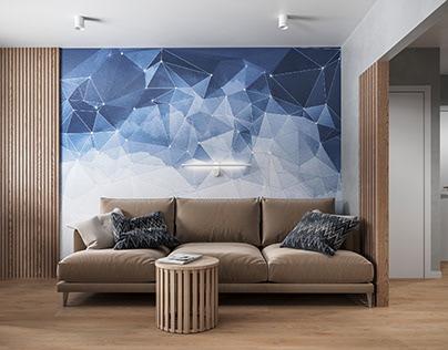 Дизайн-проект квартиры площадью 77,8 м²