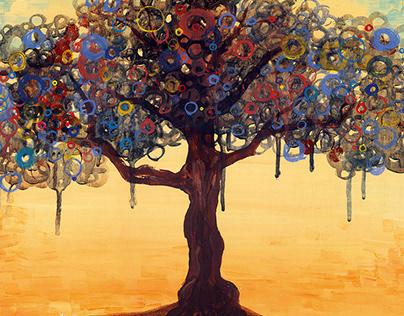 Illustration for childbook - bohemian's tree -