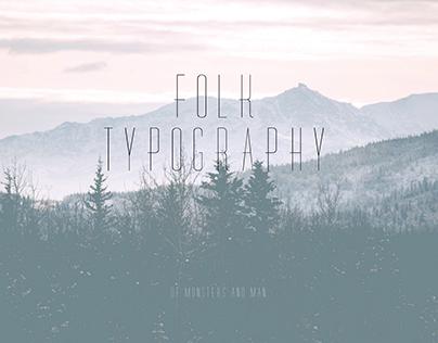 Folk typography