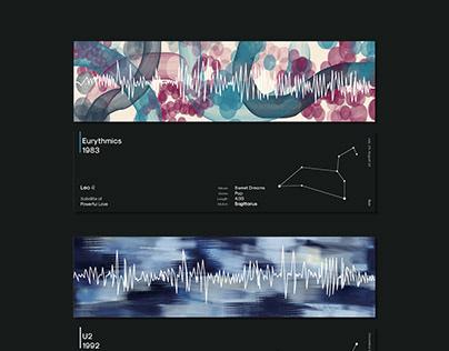 Music Data Visualization - Satellite of Love 歌曲信息视觉可视化