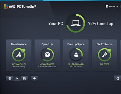 AVG PC TuneUp major re-design (2015)