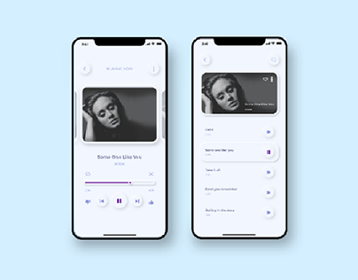Neomorphic music app